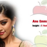 tollywood actress height