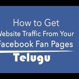 increase webtraffic through facebook in telugu
