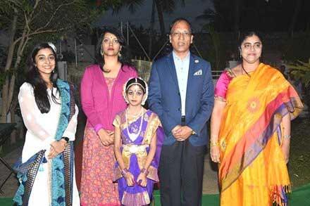 Chandana deepti family photo