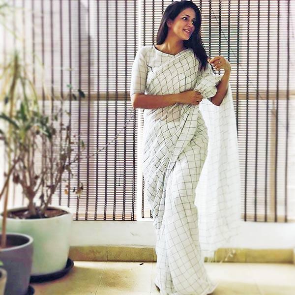 Lavanya tripati in white saree