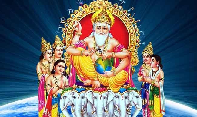 Small story over Lord Vishwakarma - diwali puja