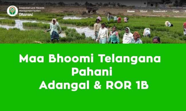 Check telangana land Records in Maa Bhoomi