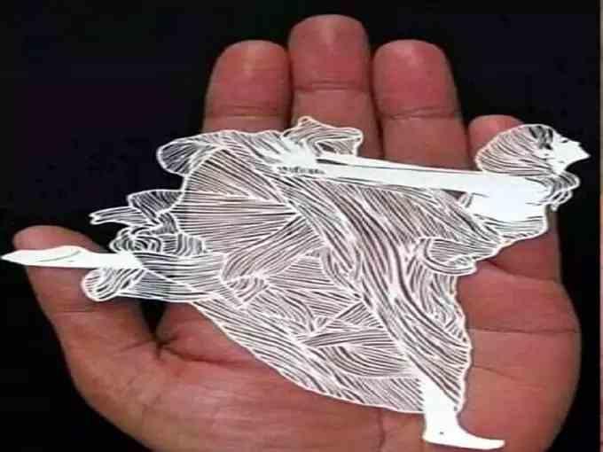 art on white paper