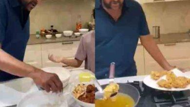 Photo of KFC చికన్ ఎలా చేయాలో తన మనవరాళ్ళకి చెప్తున్న మెగాస్టార్ !