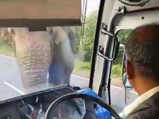 Gajaraju robbing the bus is viral